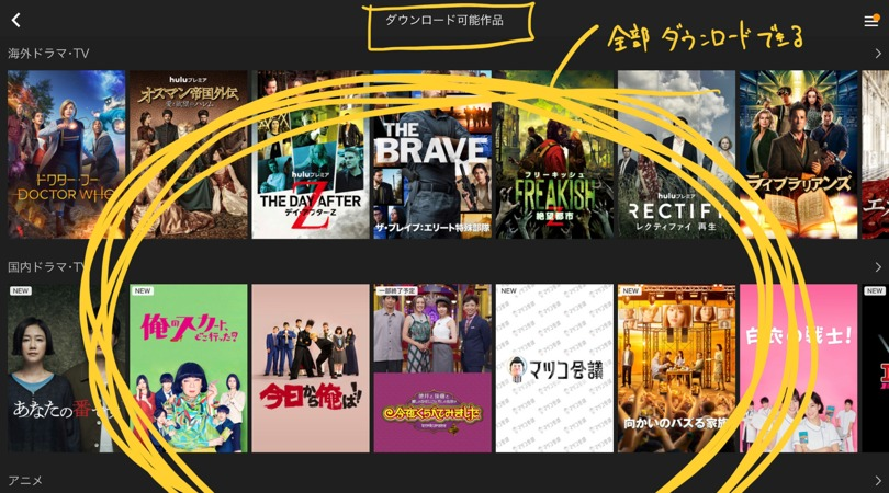 Hulu オフライン 再生